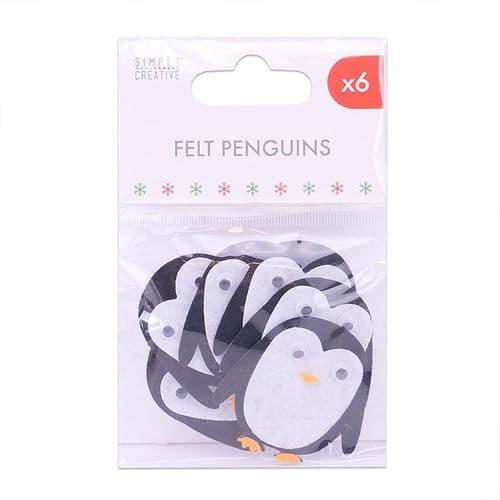 Felt Penguins - 6 Pieces