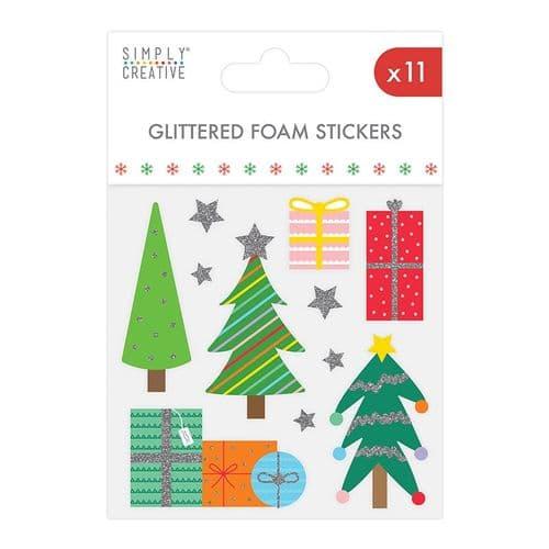 Glitter Foam Stickers Christmas Icons