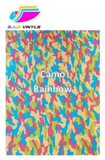 Metallic Patterned HTV  :- Camo Rainbow