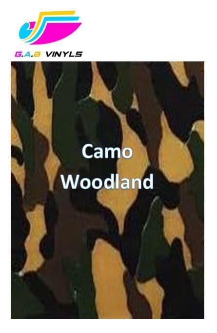 Metallic Patterned HTV :- Camo Woodland