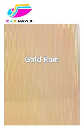 Metallic Patterned HTV :- Gold Rain