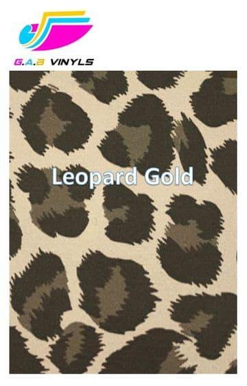 Metallic Patterned HTV :- Leopard Gold