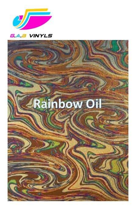 Metallic Patterned HTV :- Rainbow Oil