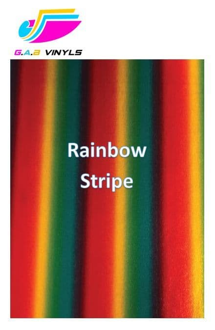 Metallic Patterned HTV :- Rainbow Stripe