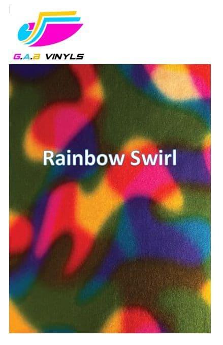 Metallic Patterned HTV :- Rainbow Swirl