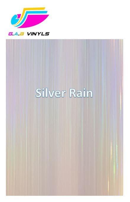 Metallic Patterned HTV  :- Silver Rain