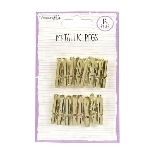 Metallic Pegs - Gold