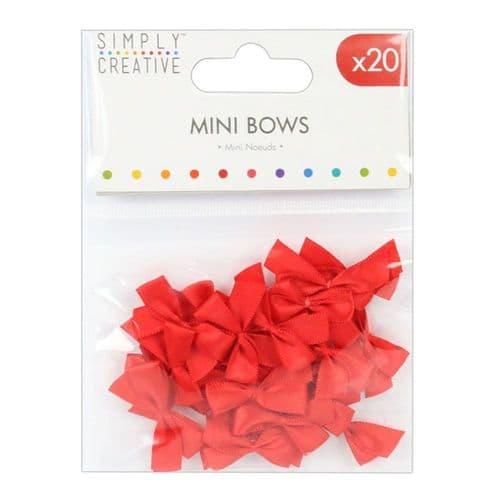 Mini Bows - Red