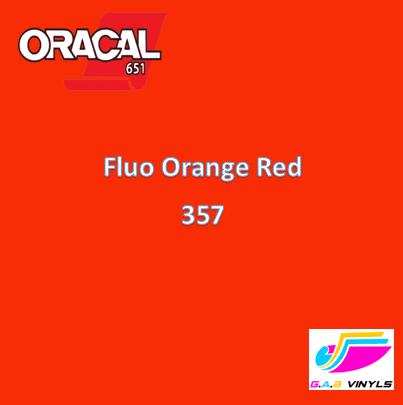 Oracal 6510  :- Fluorescent Orange Red