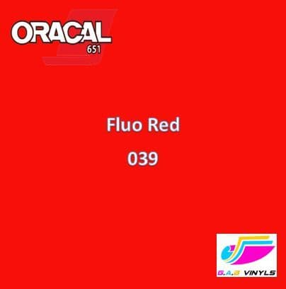 Oracal 6510  :- Fluorescent Red