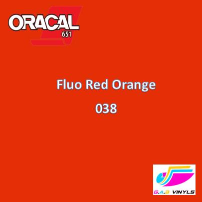 Oracal 6510  :- Fluorescent  Red Orange