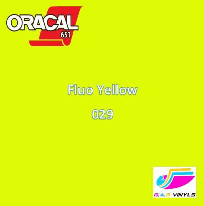 Oracal 6510  :- Fluorescent Yellow