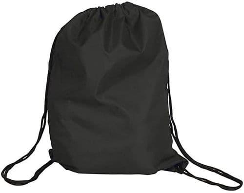 Polyester Drawstring Bag - Black