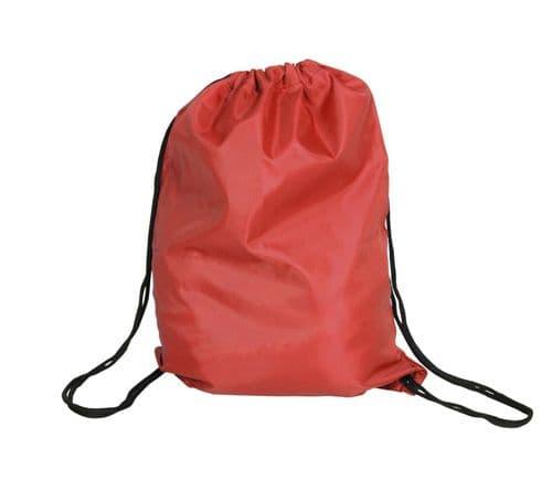 Polyester Drawstring Bag - Red