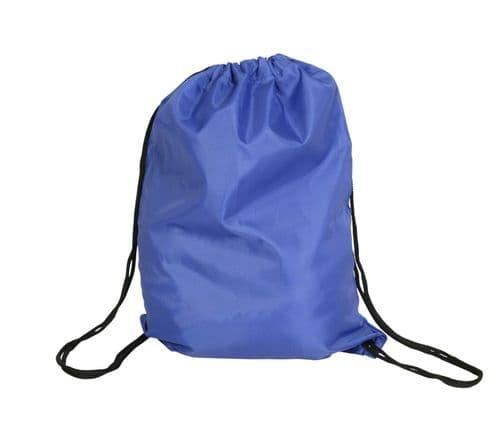 Polyester Drawstring Bag - Royal Blue