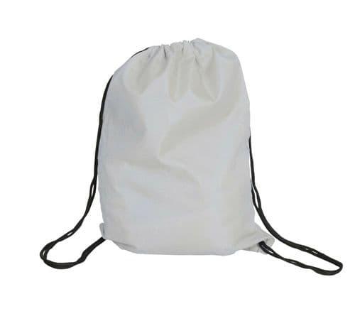 Polyester Drawstring Bag - White