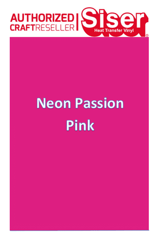 Siser Easyweed  P.S Stretch :- Neon Passion Pink