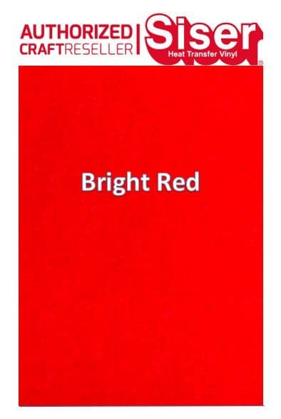 Siser StripFlock Pro HTV :- Bright Red (S0028)