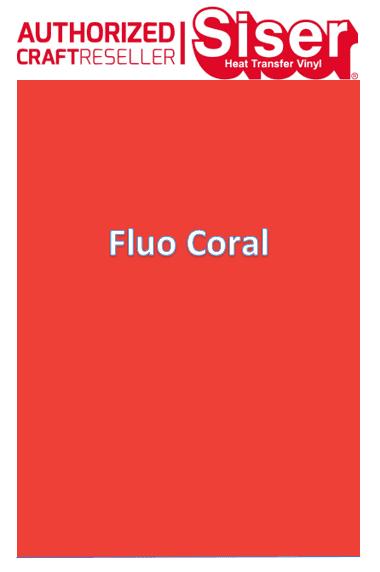 Siser StripFlock Pro HTV :- Fluo Coral (S0067)