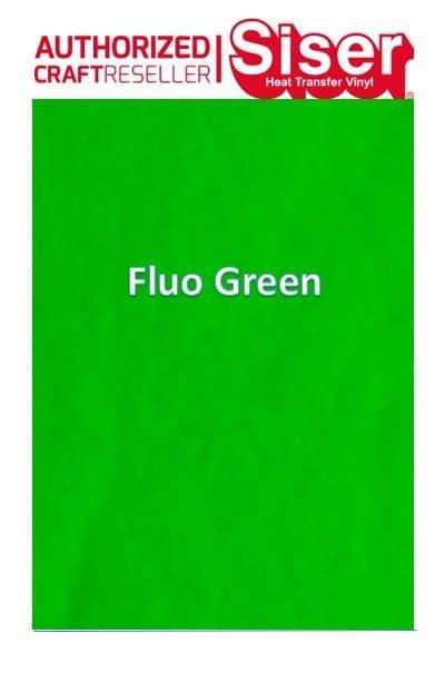 Siser StripFlock Pro HTV :- Fluo Green (S0026)