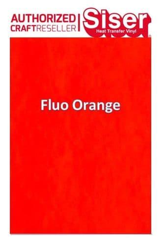 Siser StripFlock Pro HTV :- Fluo Orange (S0023)