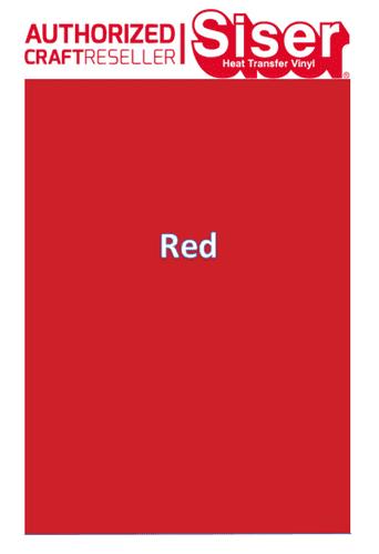 Siser StripFlock Pro HTV :- Red (S0007)