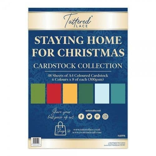 Tattered Lace Staying Home for Christmas Cardstock Collection
