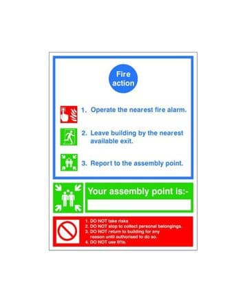 Fire Action Sign ACT 06