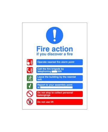 Fire Action Sign ACT 15