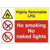 LPG Highly Flammable Multi-Purpose Warning Sign