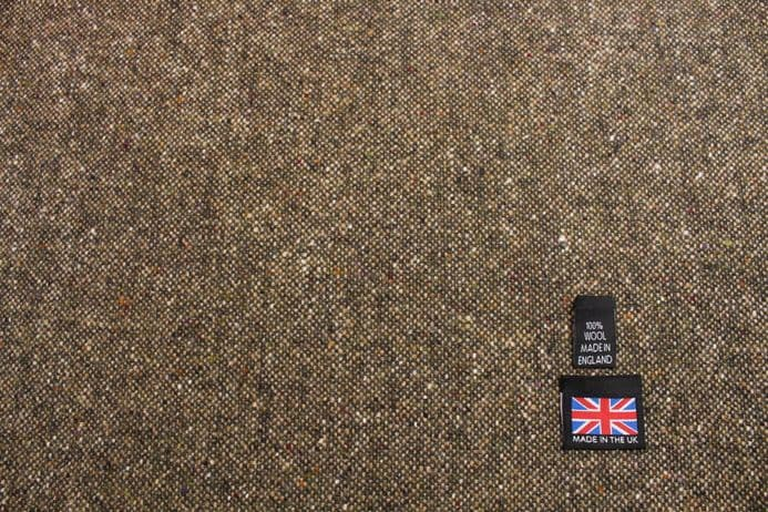 100% Pure New Wool Donegal Tweed Fabric | DZ33