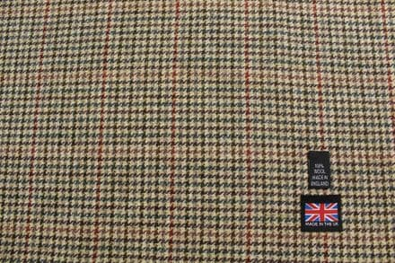 100% Pure New Wool Gun Club Check Tweed with Windowpane Overcheck | DZ50