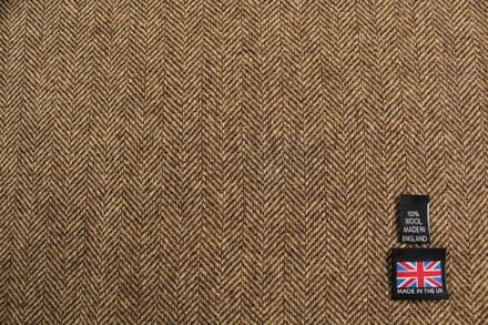 100% Pure New Wool Herringbone Tweed Fabric | CZ26