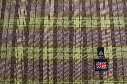 100% Pure New Wool Shetland Tweed Plaid Fabric CZ04