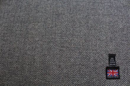 100% Wool Shetland Tweed  Herringbone Fabric  | CZ19