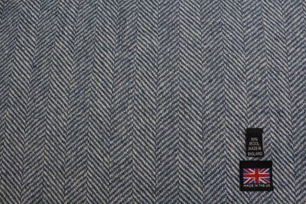 Pure New Wool Large Herringbone Tweed Fabric | CZ18