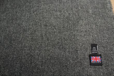 Pure New Wool Mixed Grey Melange Tweed Fabric | CZ69