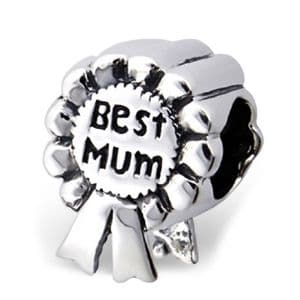 Charm School UK > Sterling Silver Dangle Charms > Miscellaneous > Big Sister Heart Sterling Silver Dangle Charm / Carrier Bead