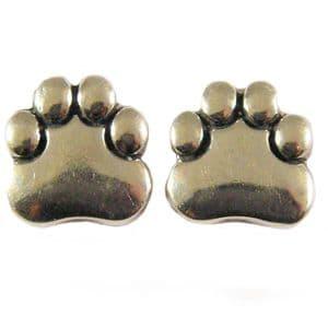 Charm School UK > Sterling Silver Stud Earrings > Paws