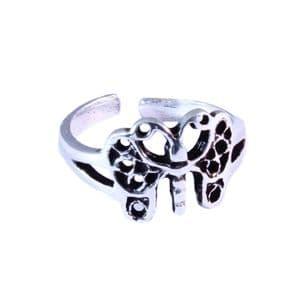 Charm School UK > Sterling Silver Toe Rings > Butterfly