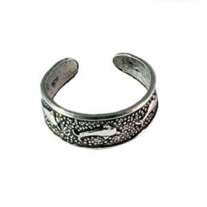 Charm School UK > Sterling Silver Toe Rings > Dolphins