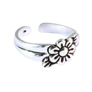 Charm School UK > Sterling Silver Toe Rings > Flower