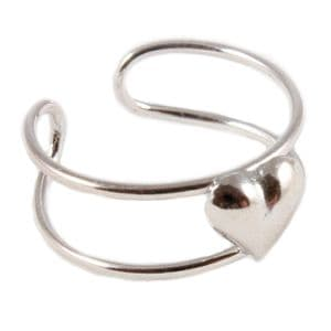Charm School UK > Sterling Silver Toe Rings > Puffed Heartr Design