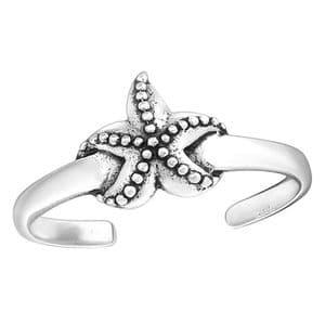 Charm School UK > Sterling Silver Toe Rings > Starfish