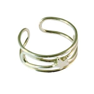 Charm School UK > Sterling Silver Toe Rings > Star Design