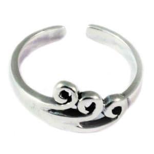 Charm School UK > Sterling Silver Toe Rings > Swirls