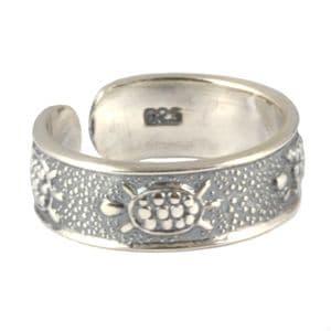 Charm School UK > Sterling Silver Toe Rings > Turtle Design