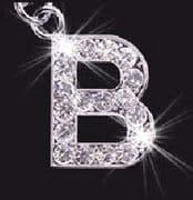 Swarovski Crystal Mobile Phone Charm - Letter B
