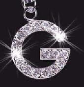 Swarovski Crystal Mobile Phone Charm - Letter G