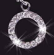 Swarovski Crystal Mobile Phone Charm - Letter O